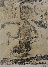 Original lithograph of Vanessa Bell's grand-daughter, Amaryllis Garnett