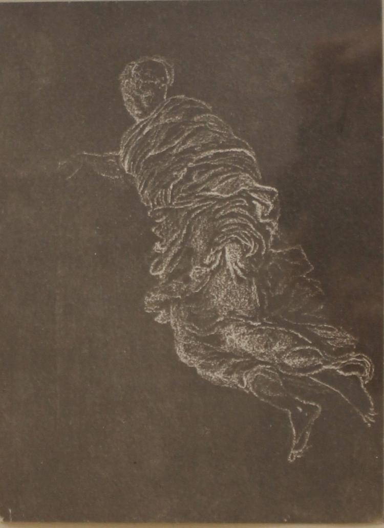 Rare plantinotpye photograph of Edward Burne-Jones' figure sketch