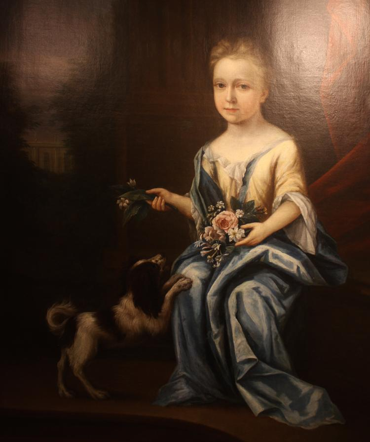 Georgian young aristocractic lady, portrait from Dalham Hall
