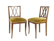 A Set of Six Beechwood Dining Chairs