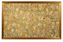 A Late-17th Century, Early-18th Century Framed and Embroidered Panel