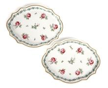 A Pair of Hand Painted Italian Porcelain Dishes