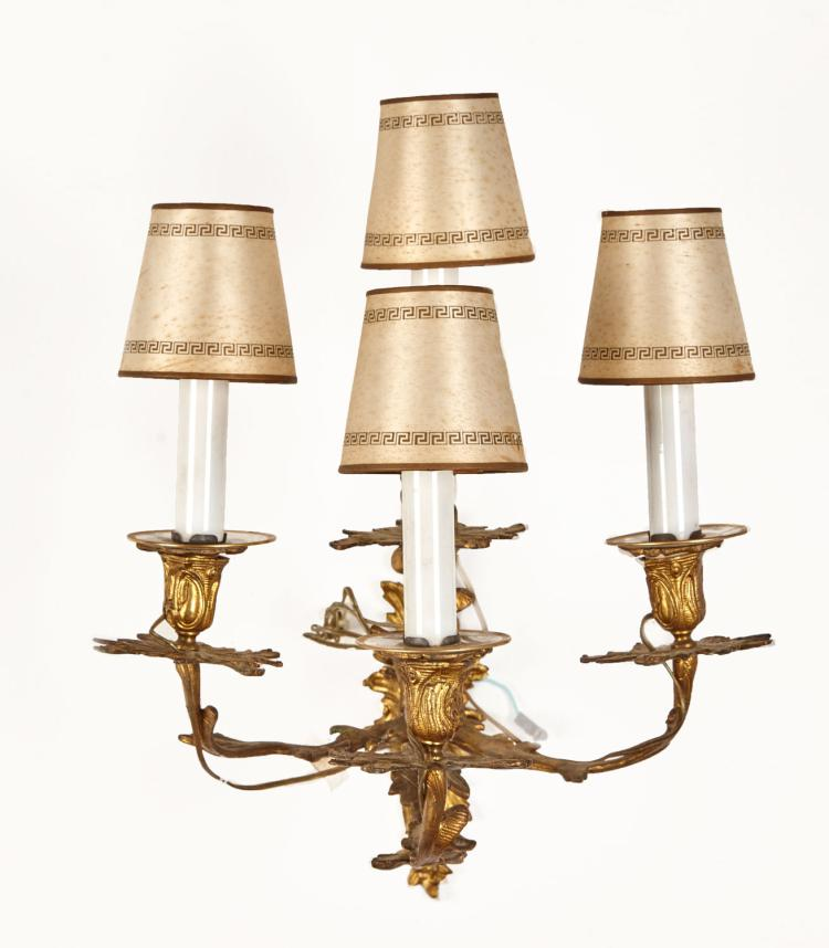 Candle Wall Sconces Nz : A Italian Ormolu Simulated Candle Wall Sconce