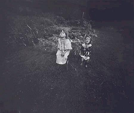 Laurence Aberhart Girls in Garden silver gelatin print 195 x 245mm Provenance Purchased from the artist by the present owner