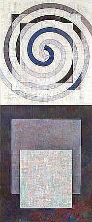 Roy Good Spiral & Six Rectangles acrylic on canvas