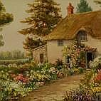 Harold Foster Country Cottage signed 230mm x 300mm
