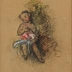 Lizzy Ansingh Cherub signed and dated '51;