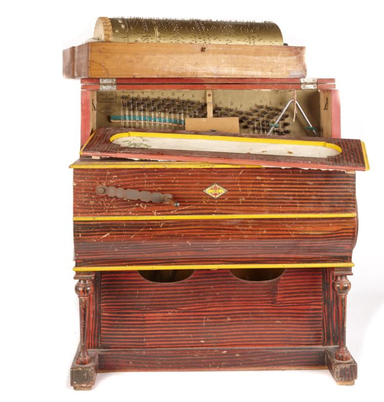 A small vintage spanish barrell organ for Classic house organ sound