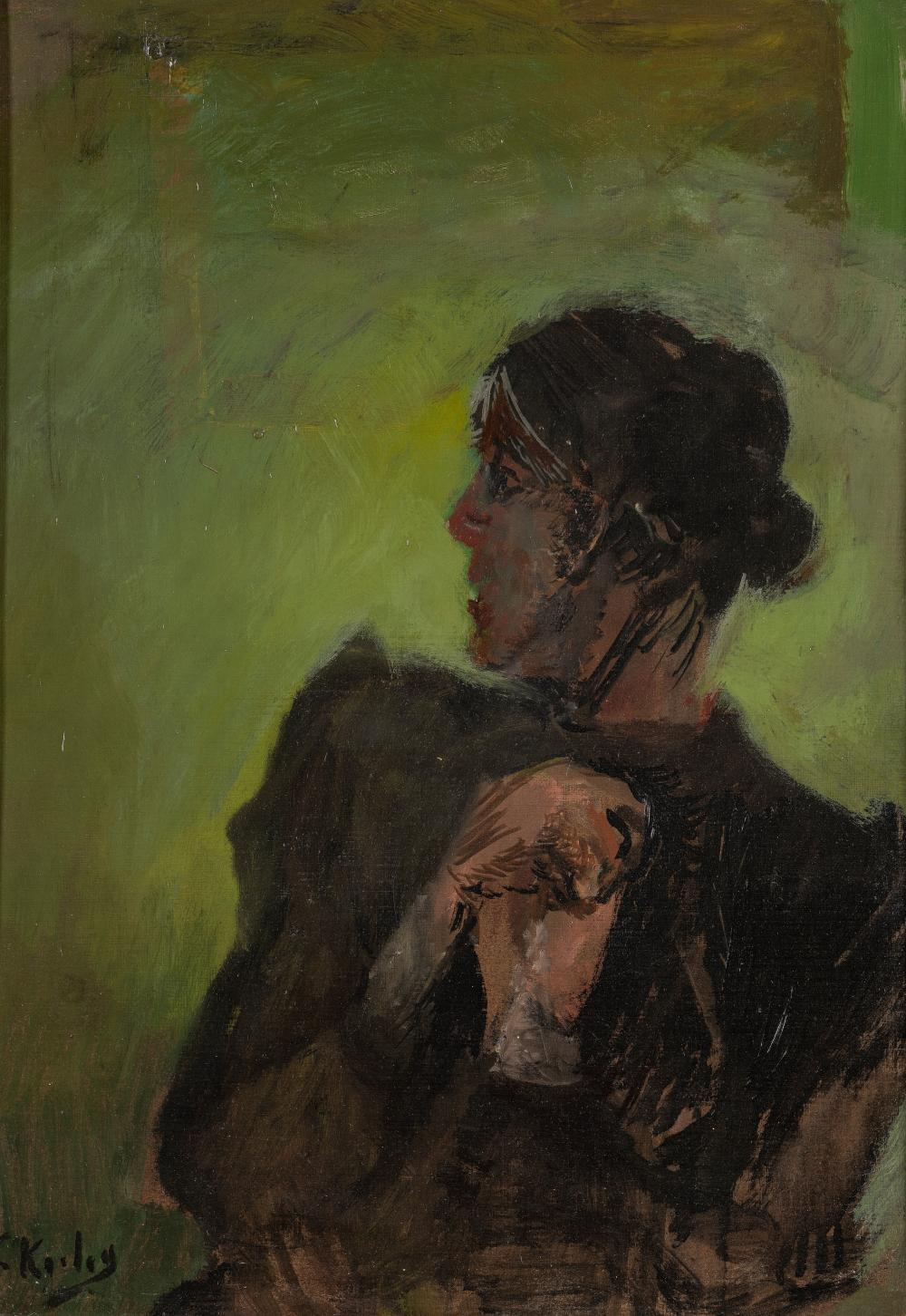 Christian Krohg (1852-1925), A puzzled Lady