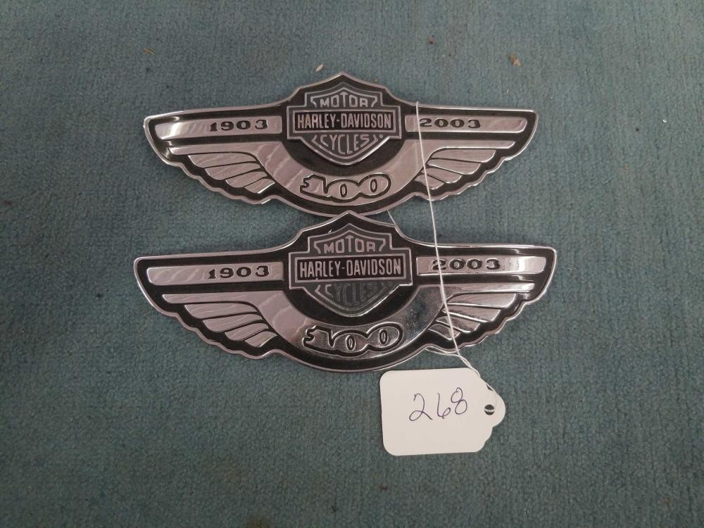 2 Harley Davidson Plaques