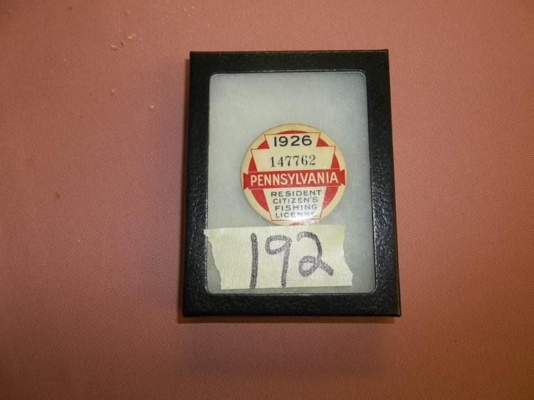 1926 pa fishing license for Pa fishing licenses