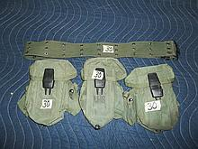 Army Style Belt w/3 ammo pouches