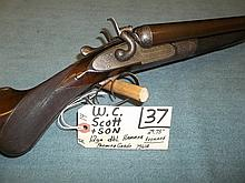 W.C. Scott & Son 12 Ga. DBL Hammer 7961A Reg. Req.