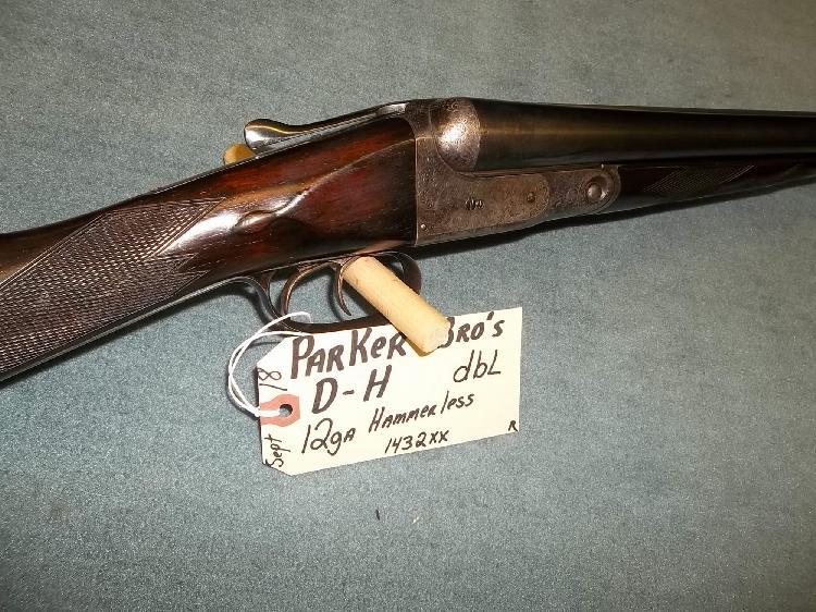 Parker Bros. D-H DBL 12 Ga. Hammerless Reg. Req. 1432XX