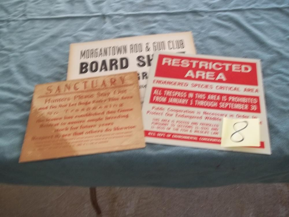 3 Lots: Restricted Area, Morgantown Rod & Gun Club, Sanctuary