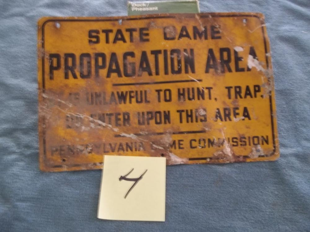 Metal State Game Propagation Area sign