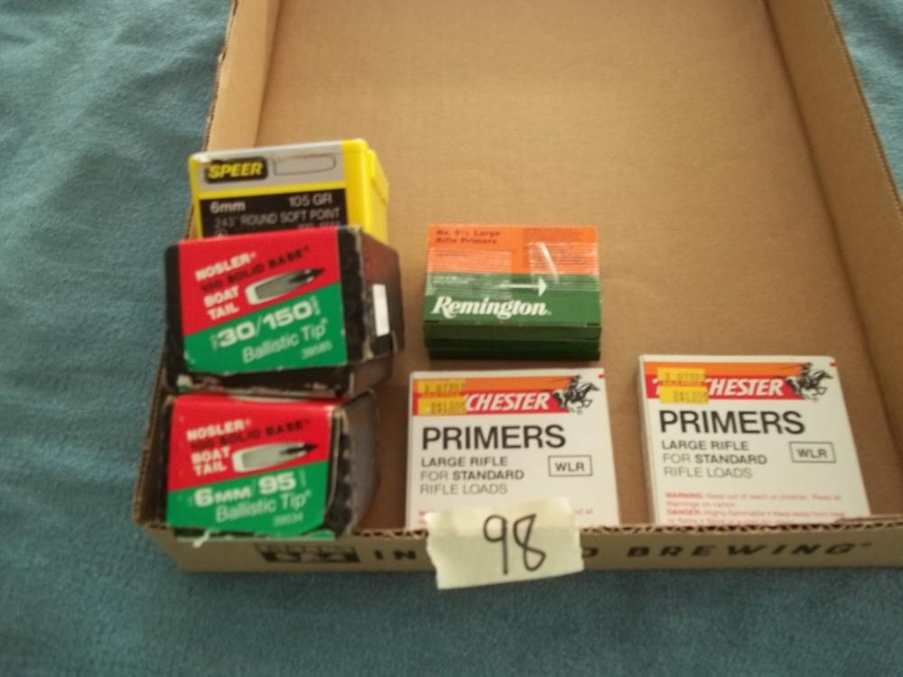 Misc. Lot: 6mm, 30 Cal., Rifle Primers