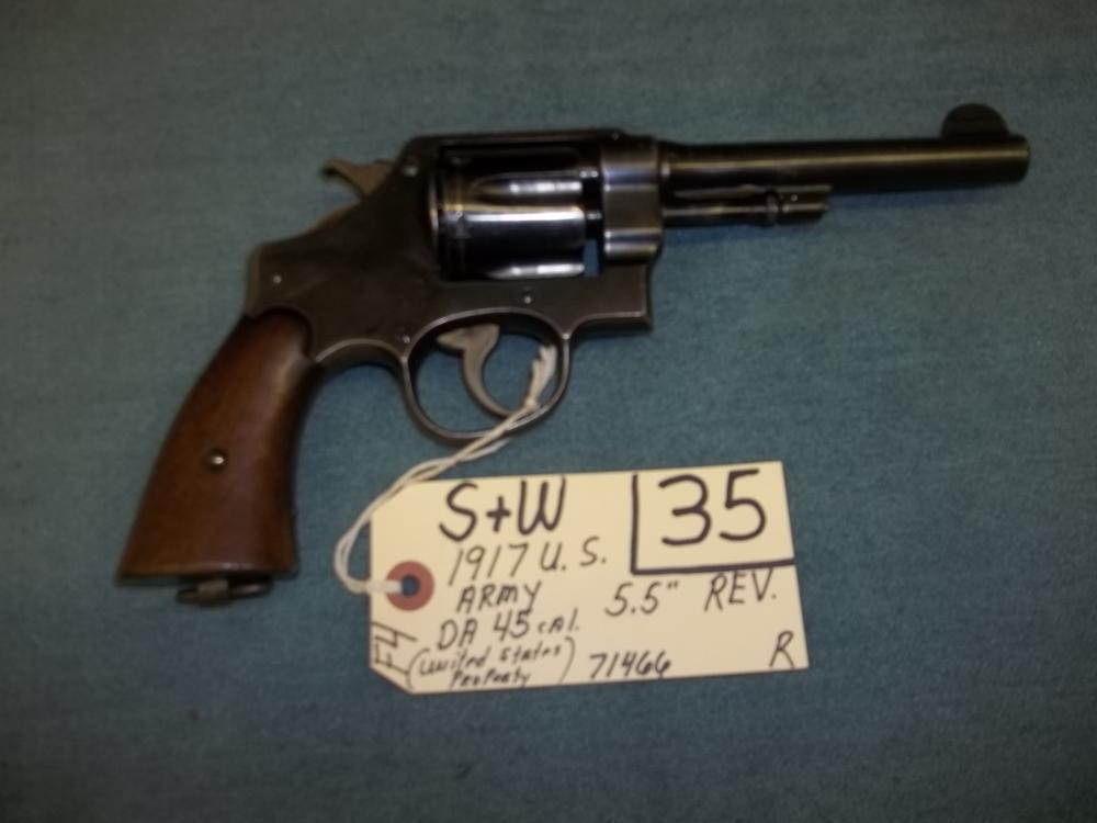 S&W 1917 US Army DA 45 Cal. US Property 71466 Reg. Req.