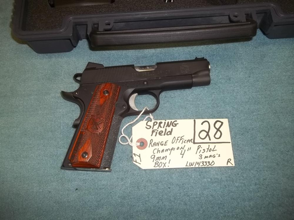 Spring Field Range Officer Champion 9mm, 3 Mags. LW143330 Reg. Req
