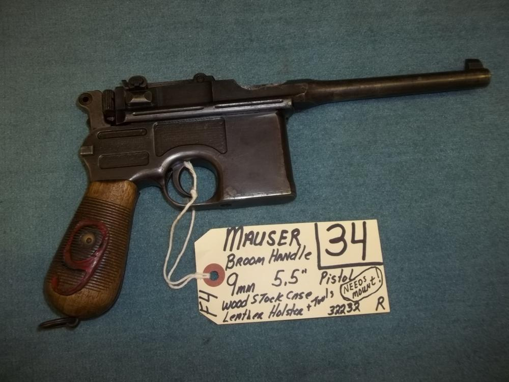 Mauser Broom Handle 9mm 32232 Reg. Req.