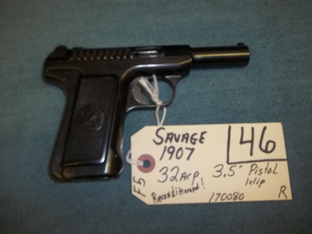Savage 1907, 32 ACP, 1 clip, 170080 Reg. Req.