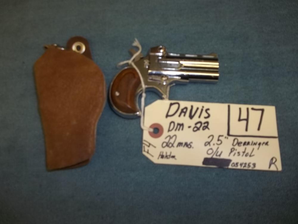 Davis DM22, 22 Mag. O/U Pistol, 054253 Reg. Req