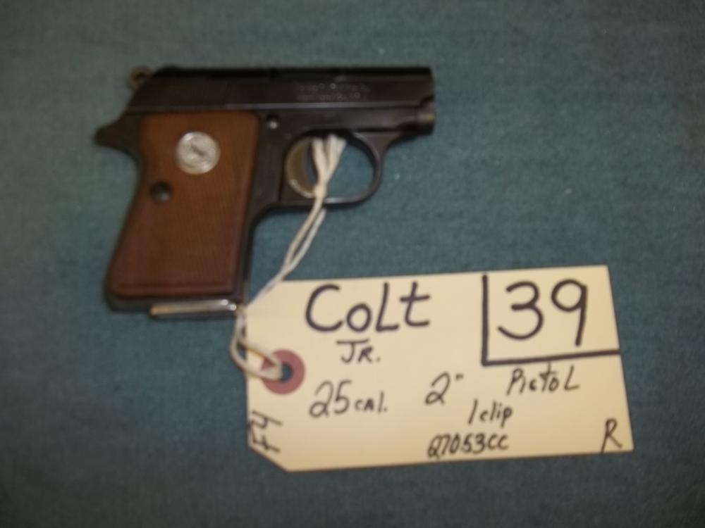 Colt Jr. 25 Cal., 1 clip, 27053CC Reg. Req.