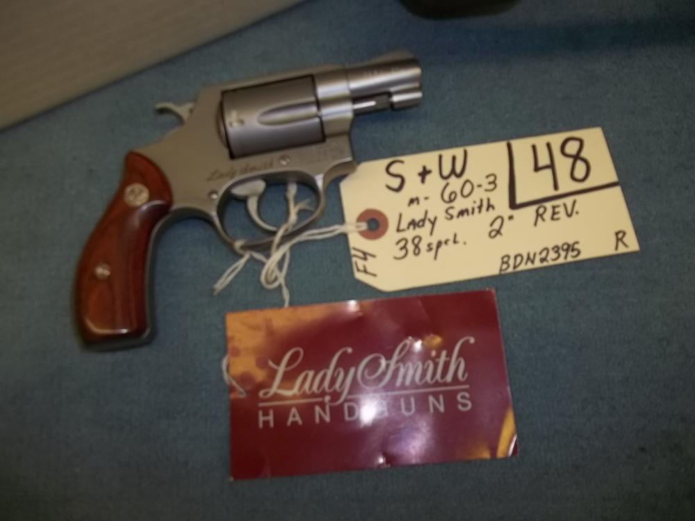 S&W M-60-3 Lady Smith, 38 Sp. BDN2395 Reg. Req.