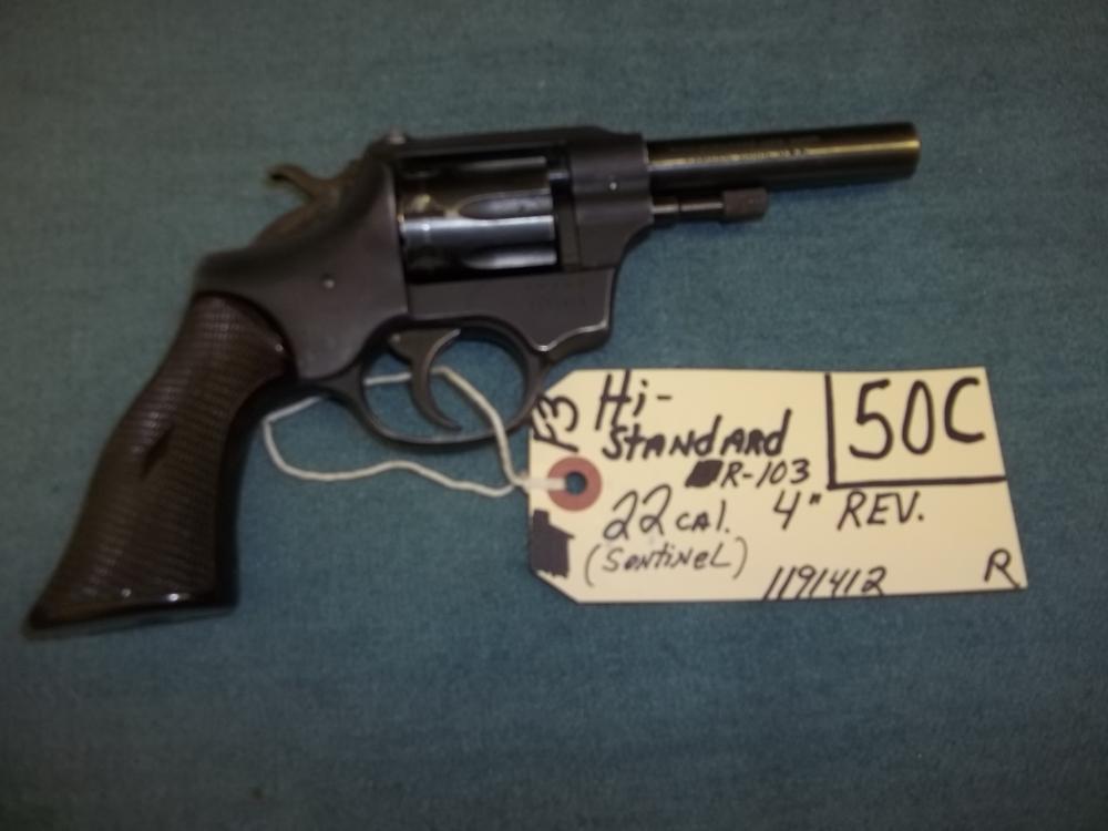Hi Standard R-103, 22 Cal. Sentinel 1191412 Reg. Req.