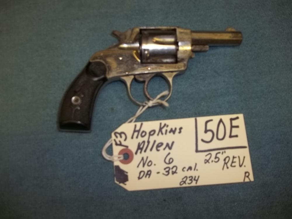 Hopkins Allen NO. 6, DA, 32 Cal. 234 Reg. Req.