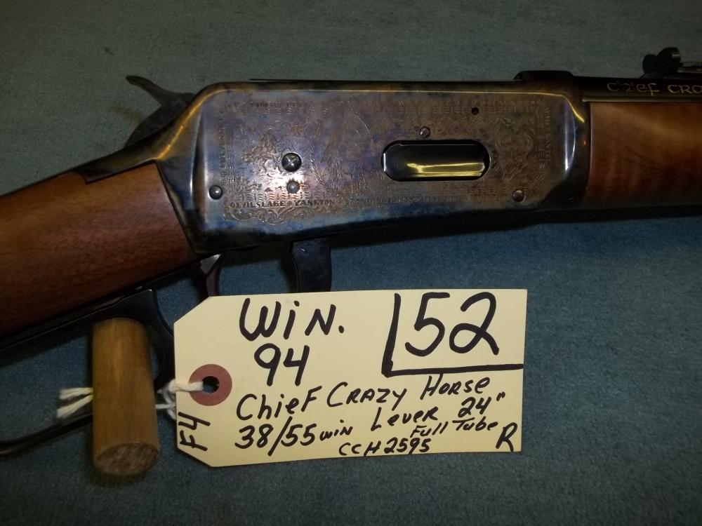 Win. 94, Chief Crazy Horse, 38/55 Win. Lever Full Tube CCH2595 Reg. Req.