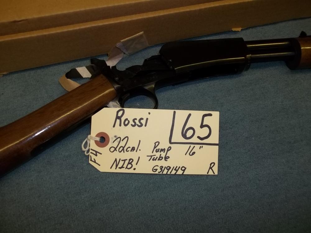 Rossi 22 Cal. Pump, Tube, G319149 Reg. Req.