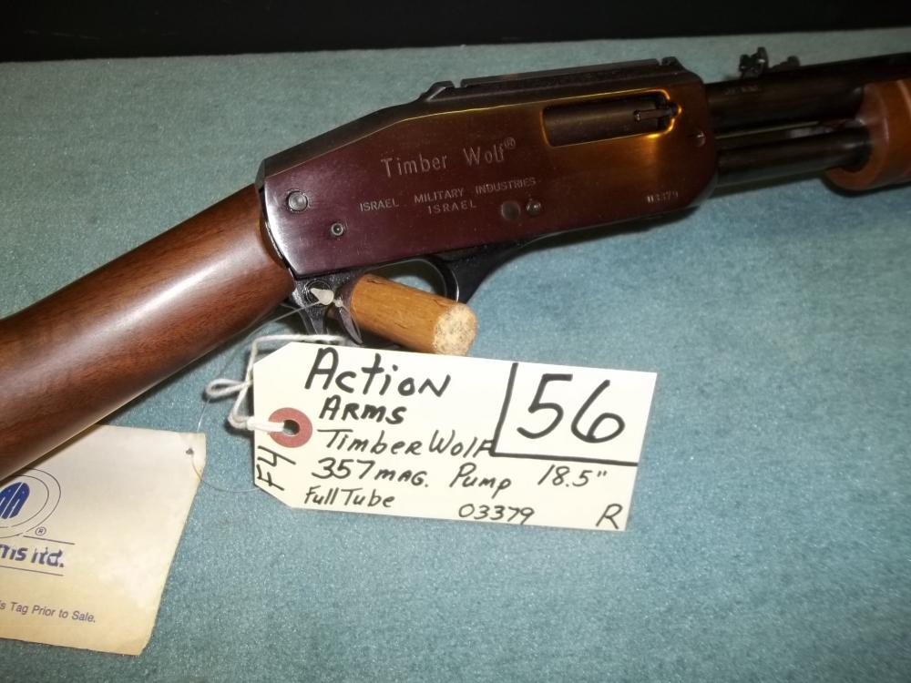 Action Arms Timber Wolf, 357 Mag. Pump, Full Tube 03379 Reg. Req.