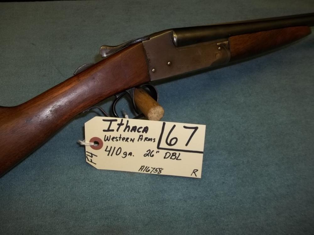 Ithaca Western Arms 410 Ga. DBL, A16758 Reg. Req.