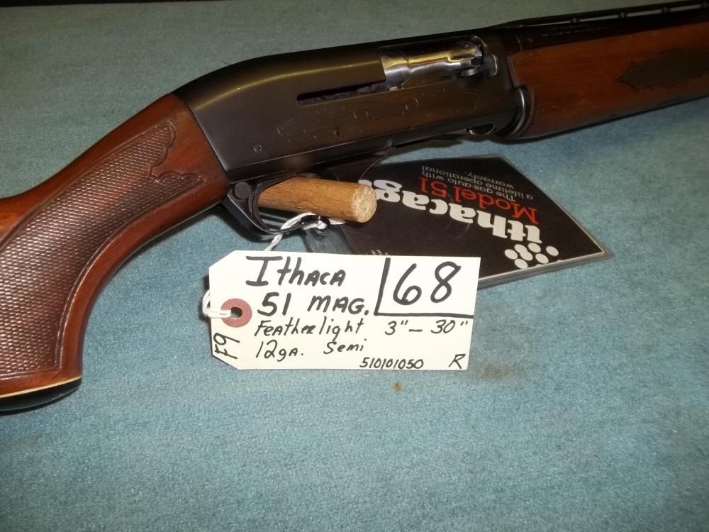 Ithaca 51 Mag. Featherlight 12 Ga. Semi 510101050 Reg. Req.