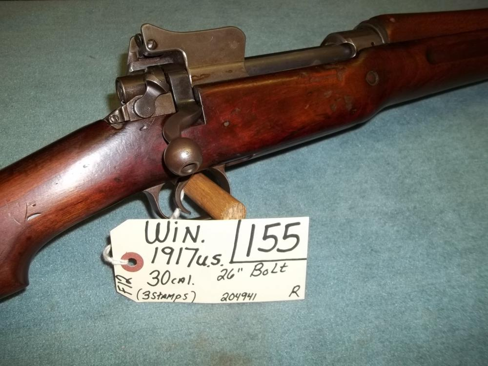 Win. 1917 US, 30 Cal. (3Stamps) Bolt, 204941 Reg. Req.