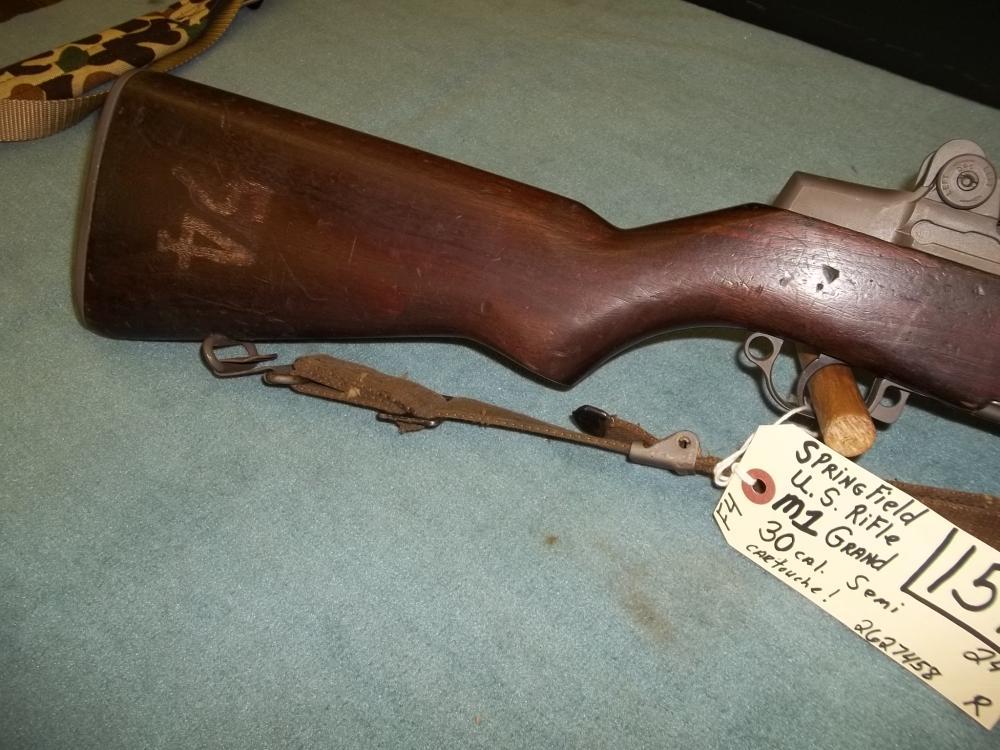 Springfield US Rifle M1 Grand, 30 Cal. Semi 2627458 Reg. Req