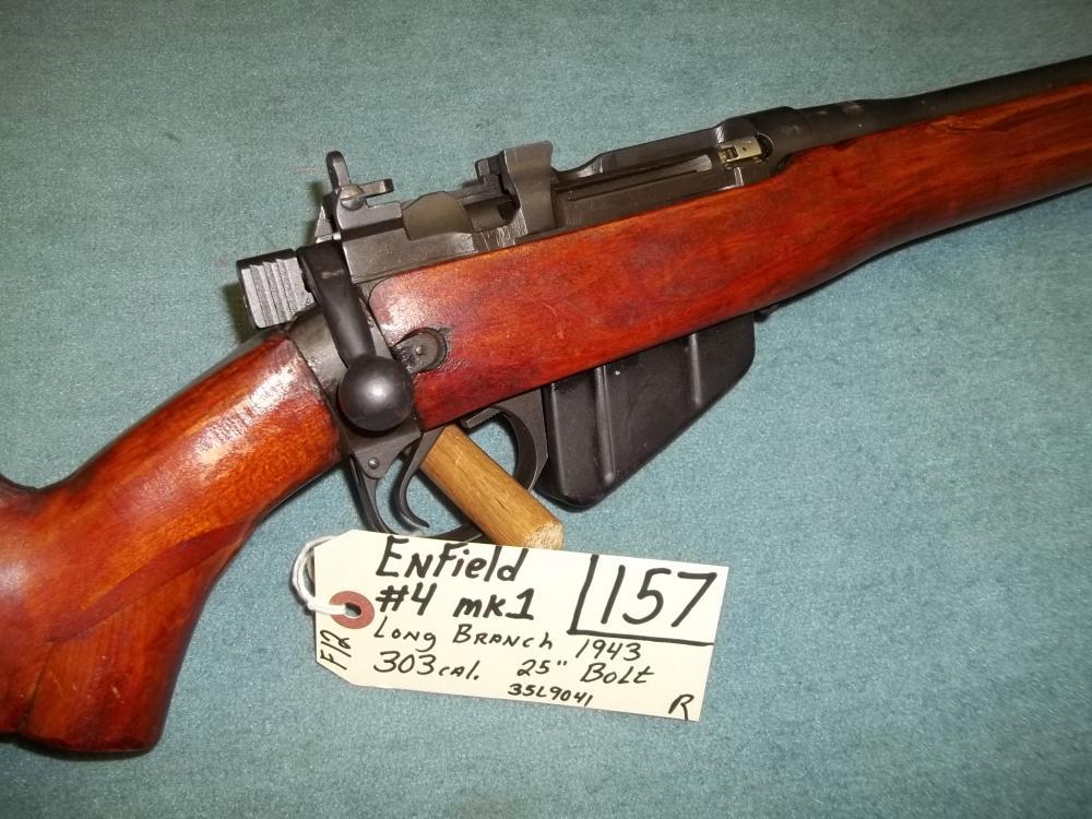 Enfield #4, MK1, Long Branch, 303 Cal., Bolt, 1943 35L9041 Reg. Req.