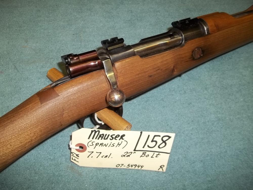 Mauser Spanish 7.7 Cal. Bolt, 07-54944 Reg. Req.