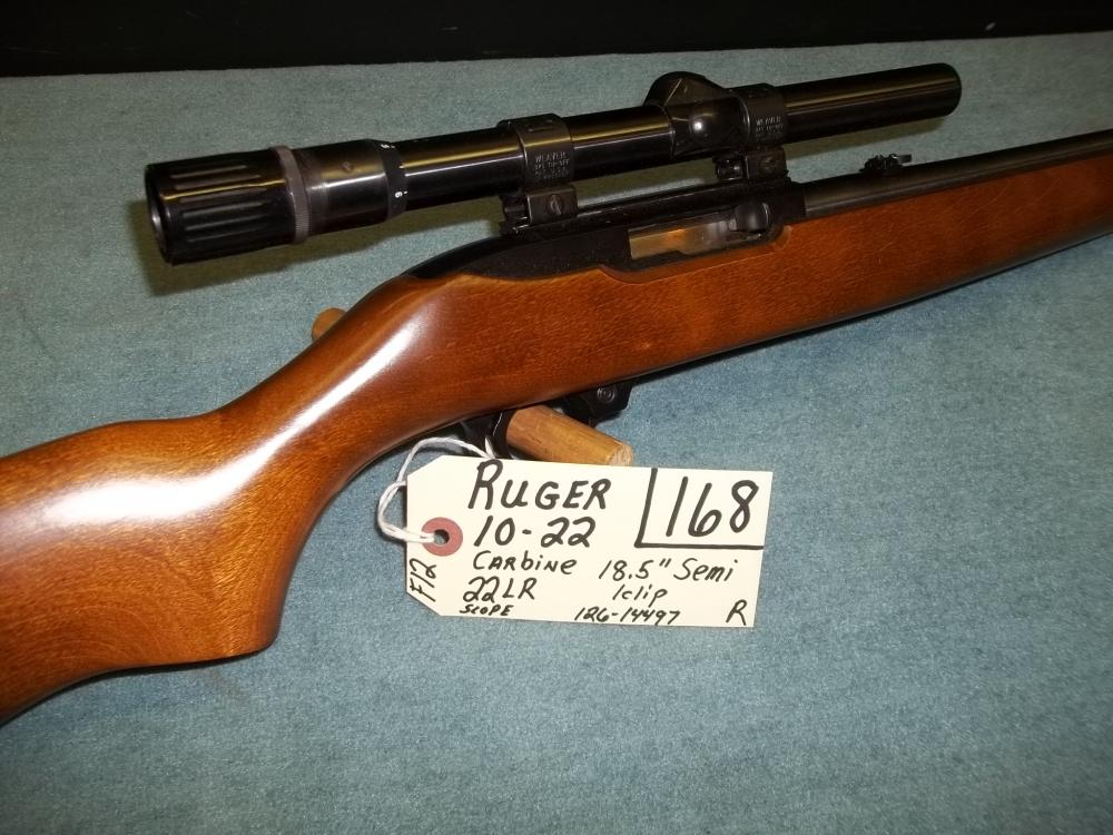 Ruger 10-22, Carbine, 22 LR, Scope, 1 clip, 126-14497 Reg. Req