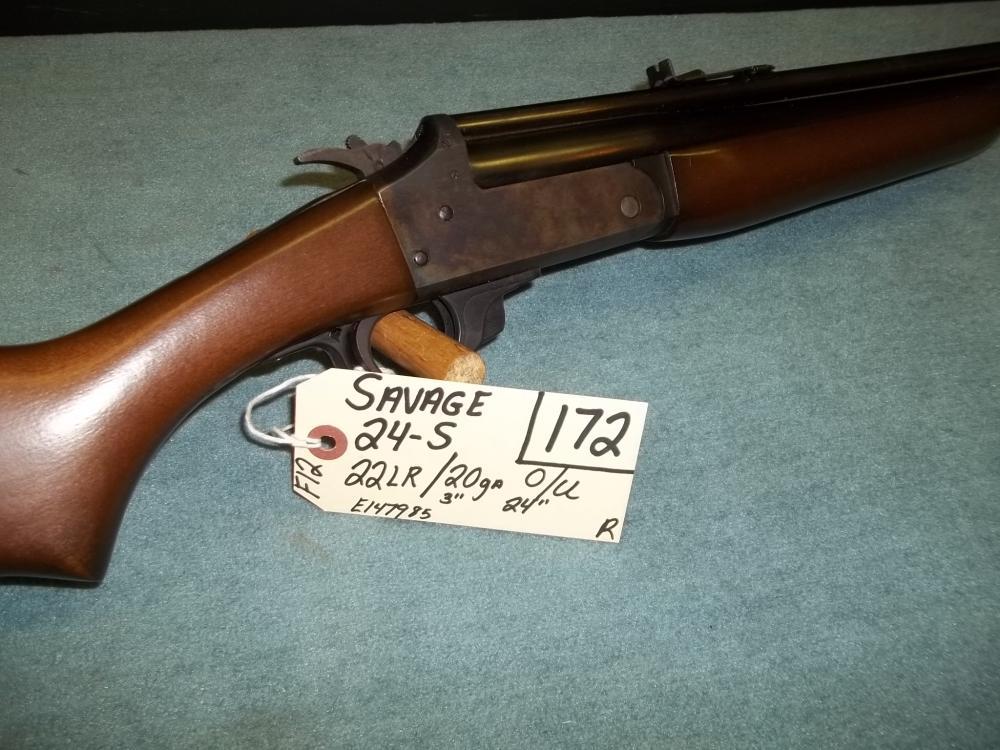 """Savage 24-S, 22 LR, 20 Ga/3"""", O/U,  E147985 Reg. Req."""