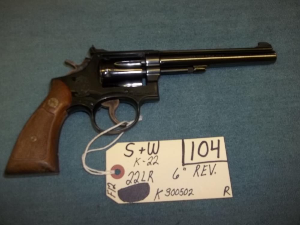 S&W K-22, 22 LR K300503 Reg. Req.