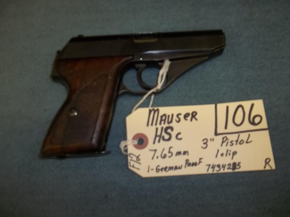 Mauser HSc, 7.65 MM, 1 German Proof 7434215 Reg. Req.
