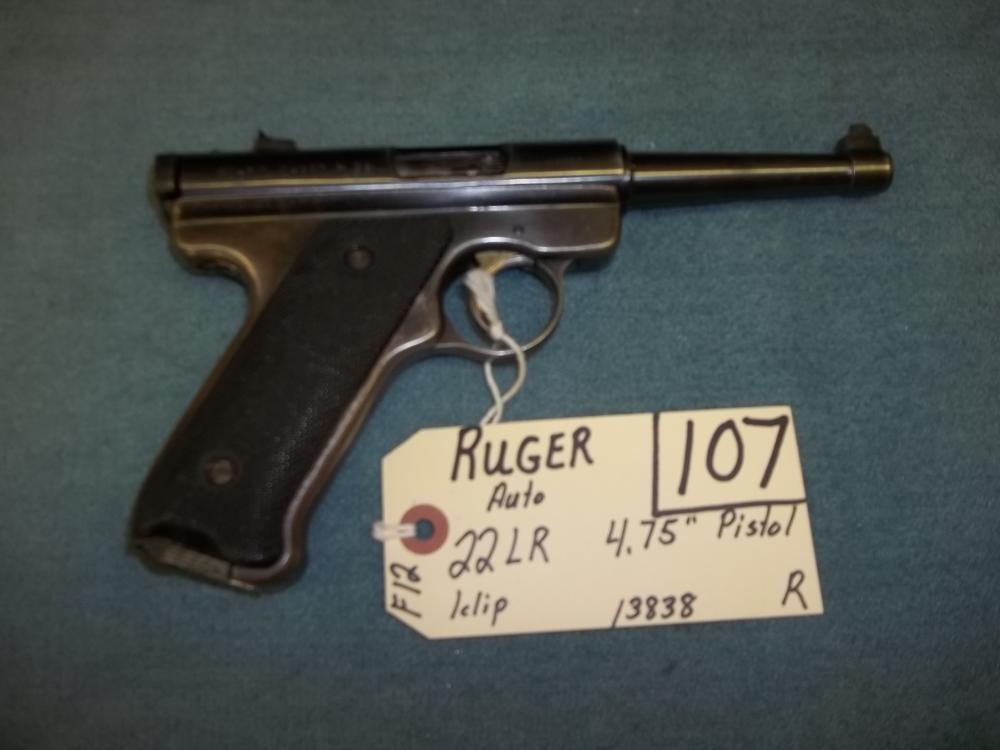 Ruger Auto, 22 LR, 1 clip, 13838  Reg. Req.