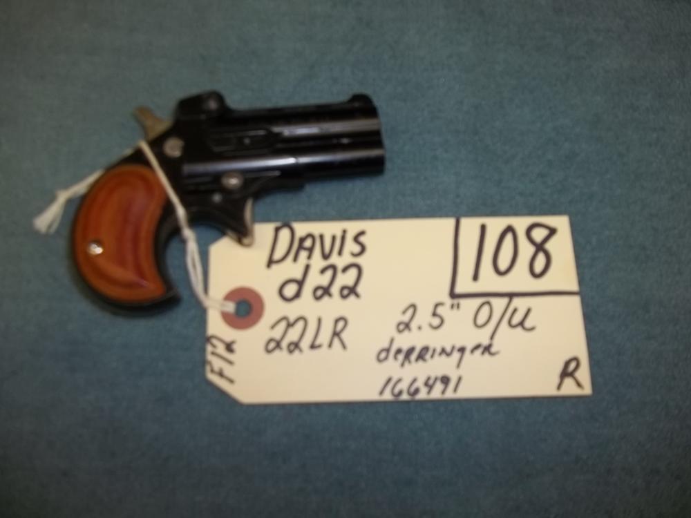 Davis D22, 22 LR, Derringer 166491 Reg. Req.