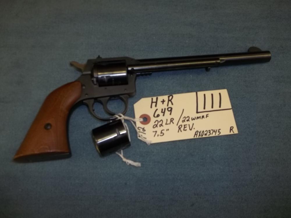 H&R 649, 22 Lr/22 WMRF AX023745 Reg. Req.