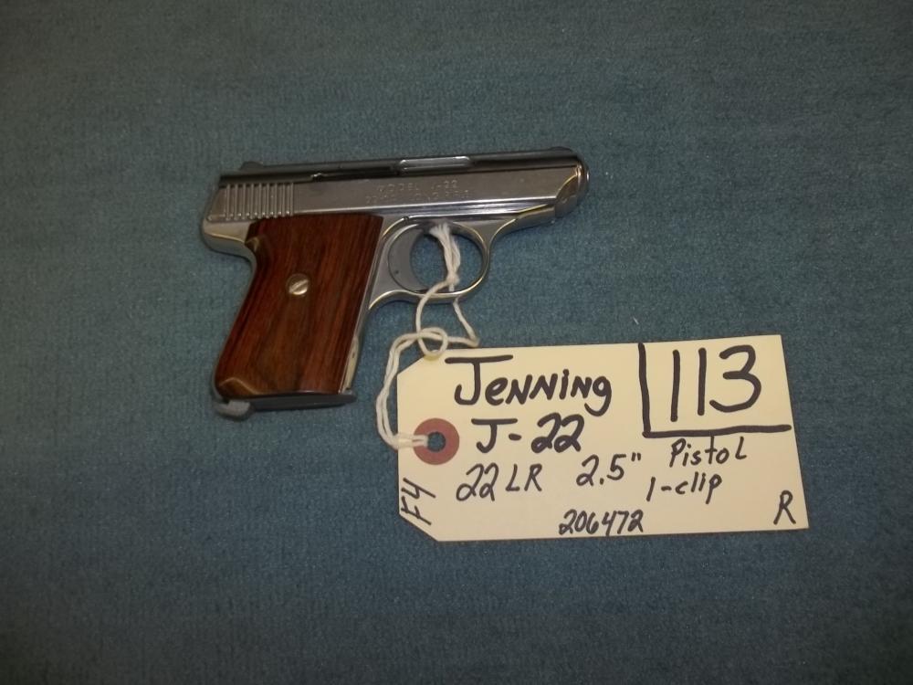 Jennings J-22, 22 LR,1 clip,  206472 Reg. Req.