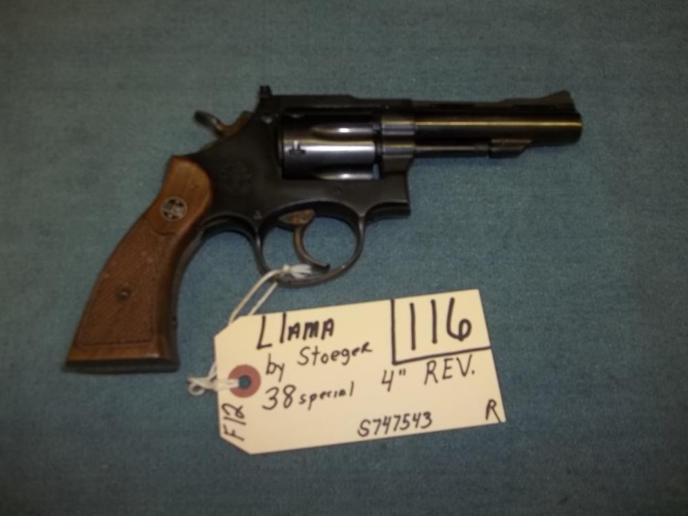 Llama by Stoeger 38 Sp. S747543 Reg. Req.