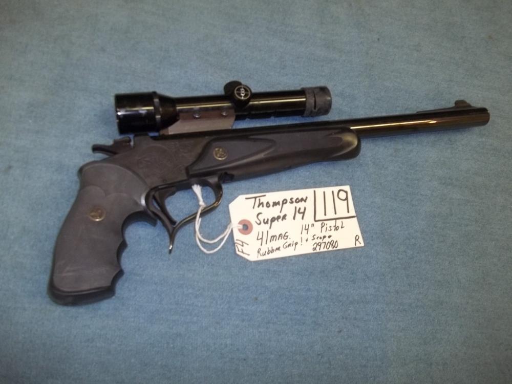 Thompson Super 14, 41 Mag. Scope 297080 Reg. Req.