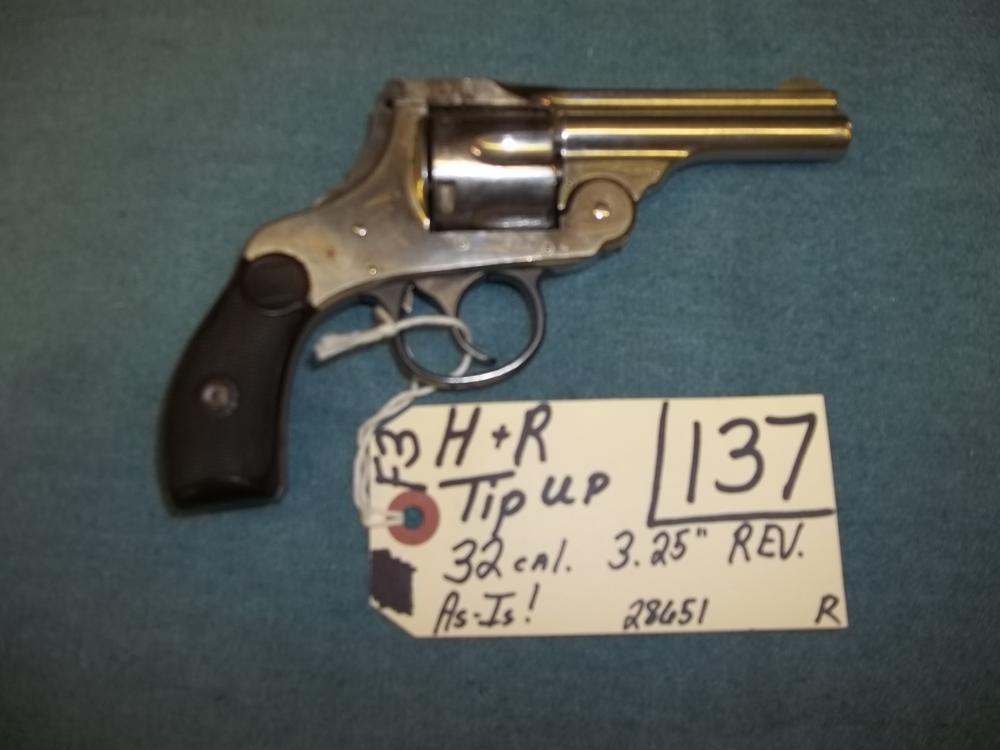 H&R Tip UP, 32 Cal. AS IS 28651 Reg. Req.